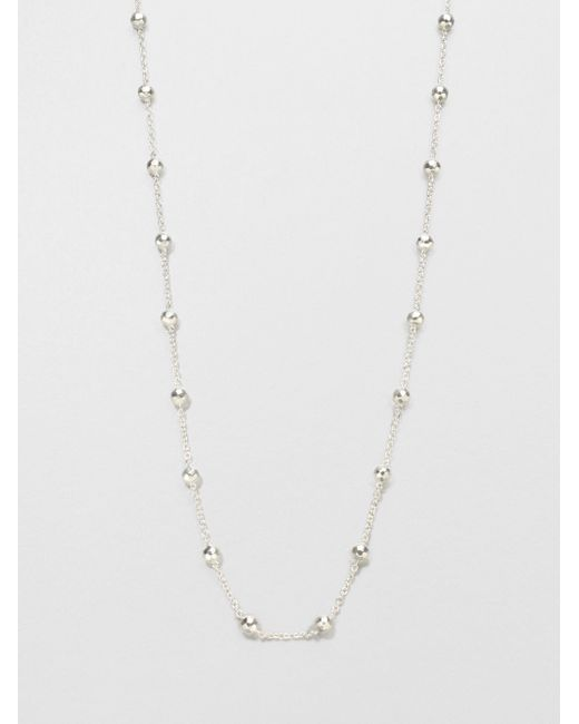 Ippolita | Metallic Glamazon Sterling Silver Mini Ball Station Necklace | Lyst