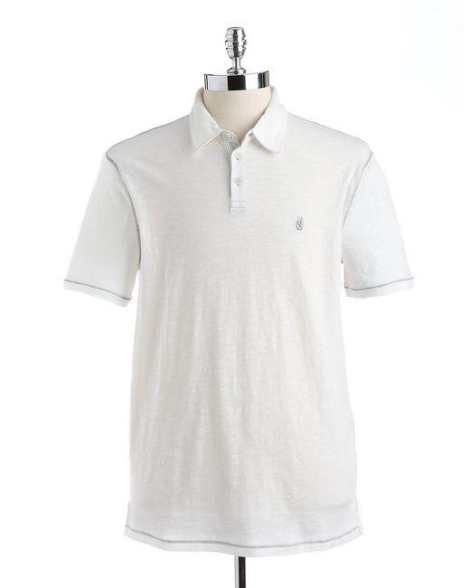 John Varvatos | White Cotton Polo for Men | Lyst