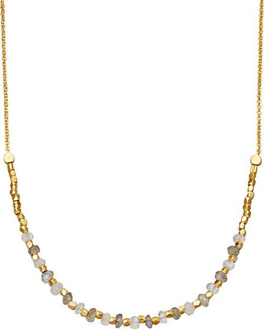 Astley Clarke | Metallic Labradorite Detail 18ct Gold-plated Necklace | Lyst