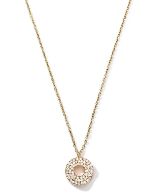 Ippolita | Metallic 18k Gold Mini Stardust Wavy Disc Drop Necklace With Diamonds (0.22 Ctw) | Lyst