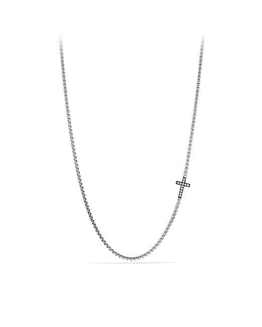 David Yurman | Metallic Pavé Cross Necklace With Diamonds for Men | Lyst