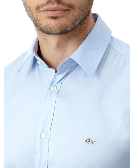 Lacoste | Blue Long Sleeve City Shirt for Men | Lyst