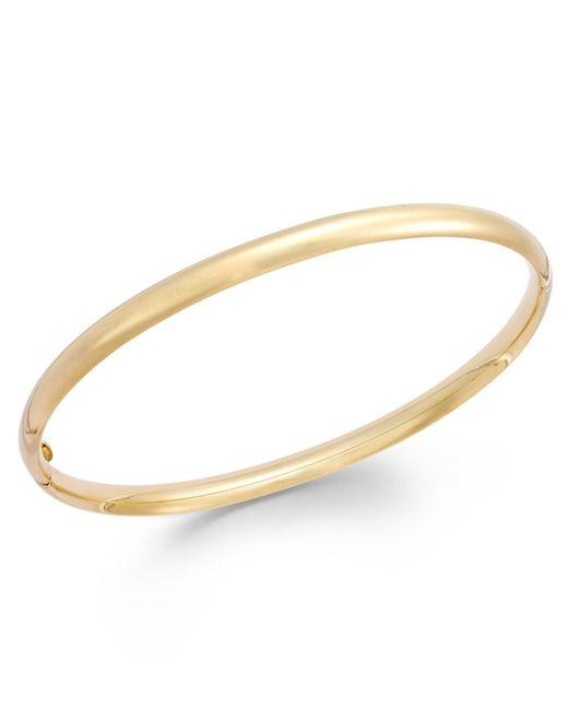 Macy's | Metallic Stackable Bangle Bracelet In 14k Gold | Lyst