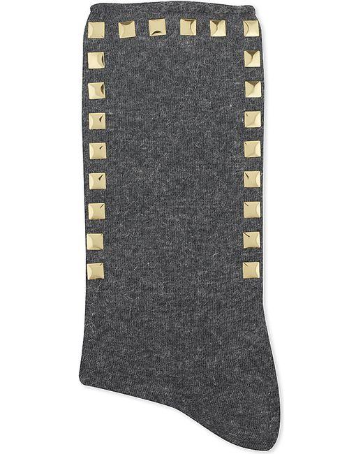 Alto Milano | Gray Stud Short Socks | Lyst