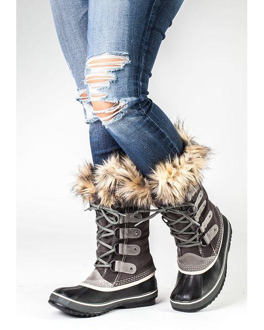 Sorel Joan Of Arctic Boot Grey Suede In Grey Lyst