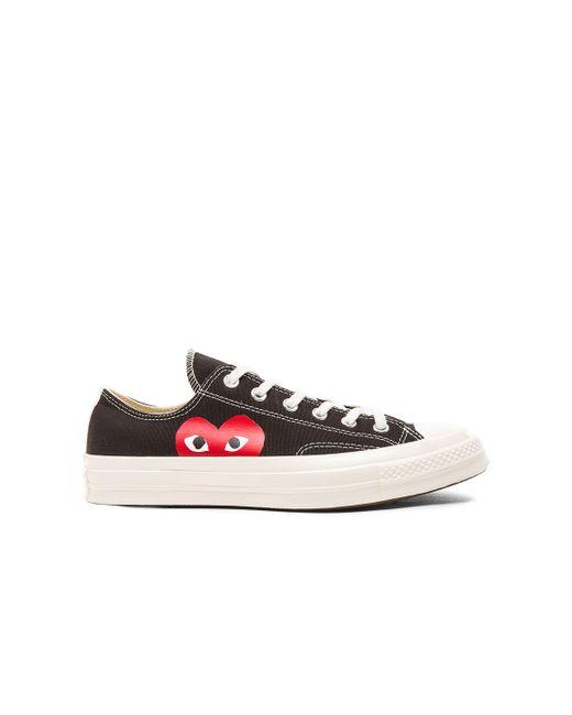 Play Comme des Garçons | White Large Emblem Low Top Canvas Sneakers | Lyst