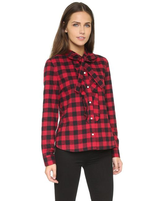 RED Valentino | Red Check Cotton Shirt | Lyst