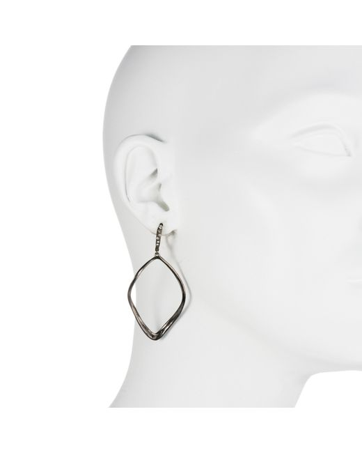 Alexis Bittar | Metallic Gunmetal Sculpted Aura Teardrop Earring You Might Also Like | Lyst
