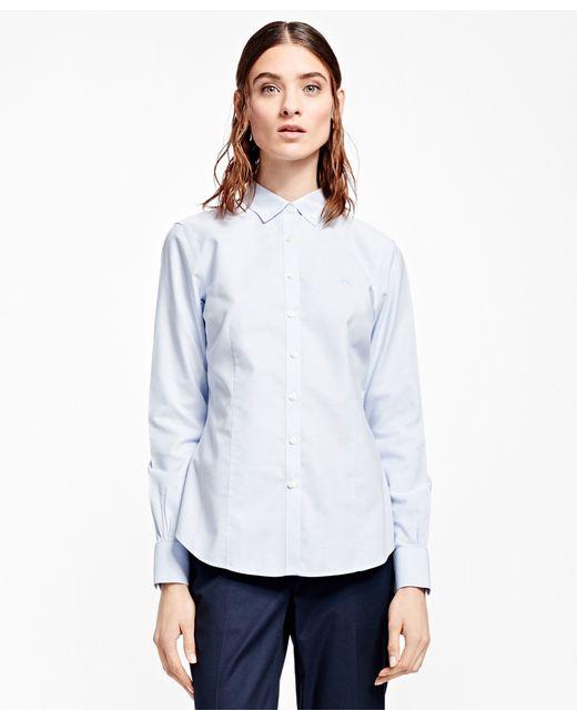 Brooks brothers petite non iron tailored fit supima for Supima cotton dress shirts