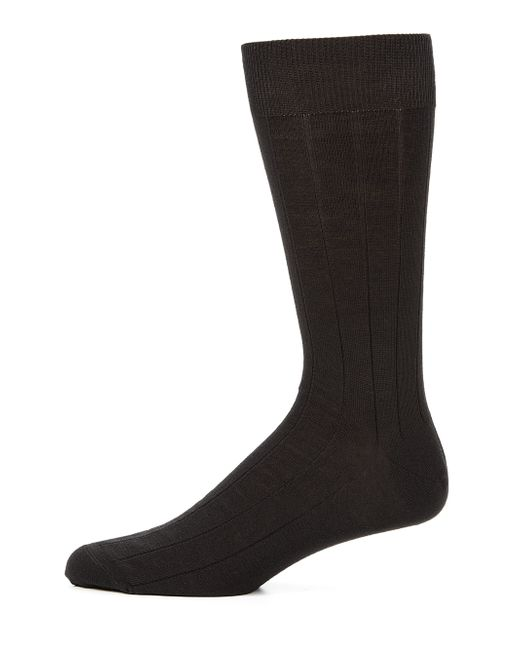 Saks Fifth Avenue | Black Stretch-wool Dress Socks for Men | Lyst