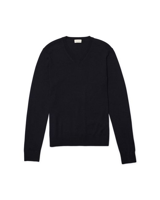 Club Monaco | Blue Merino V-neck for Men | Lyst