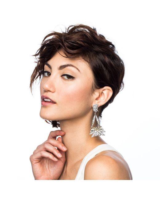 Lulu Frost | Metallic Larkspur Drop Earring | Lyst