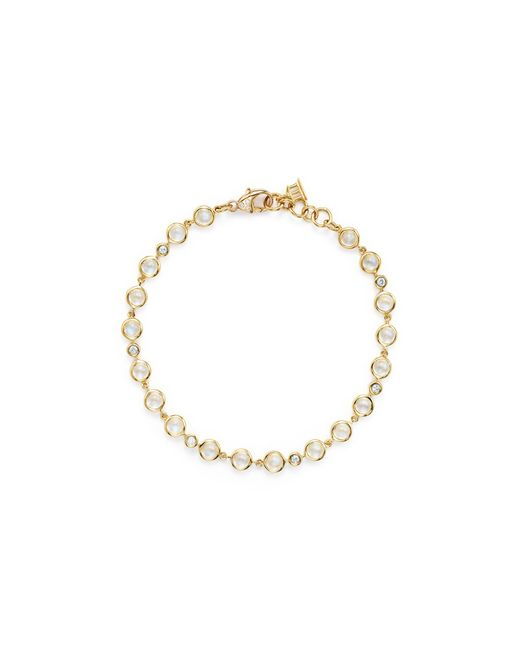 Temple St. Clair | Metallic 18k Gold Small Bracelet With Royal Blue Moonstone And Diamonds | Lyst