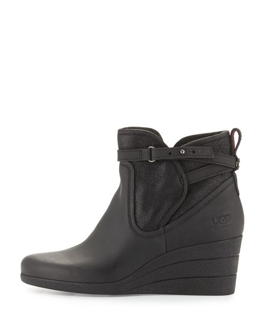 eeda4d7b983 Ugg Australia Emalie Wedge Boot Black Leather - cheap watches mgc ...