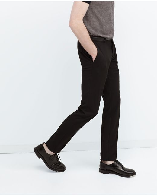 Zara | Black Plain Suit Trousers for Men | Lyst