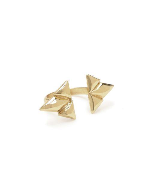 Bing Bang | Yellow Double Trident Ring | Lyst