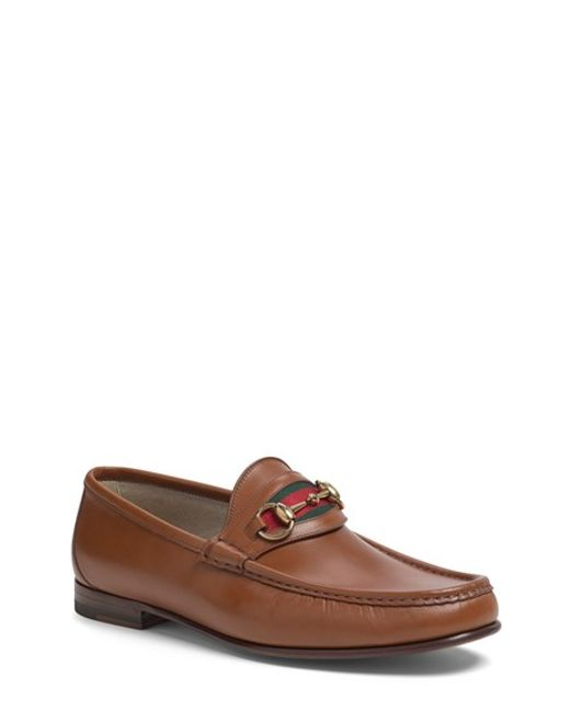Gucci | Brown 'new Classic' Bit Loafer for Men | Lyst