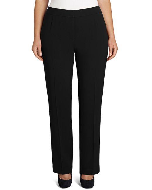 Lafayette 148 New York | Black Barrow Straight-leg Pants | Lyst