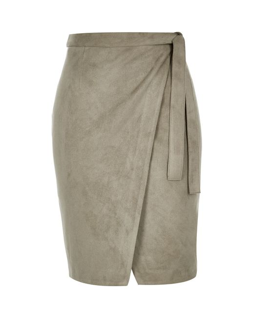 Khaki Green Skirt River Island