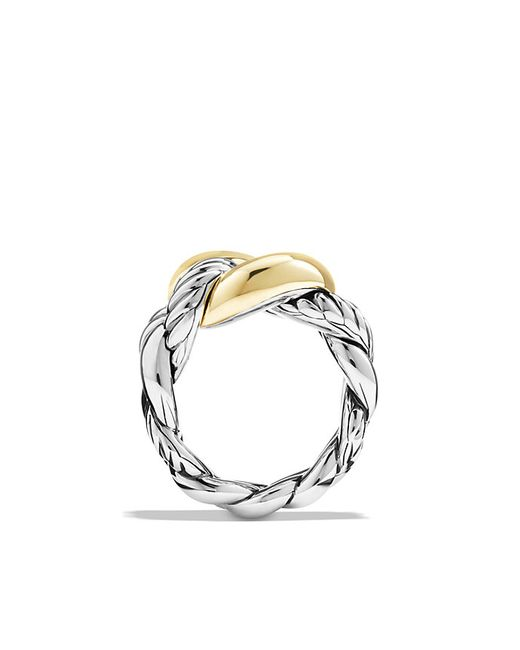 David Yurman | Metallic Ring With 18k Gold | Lyst