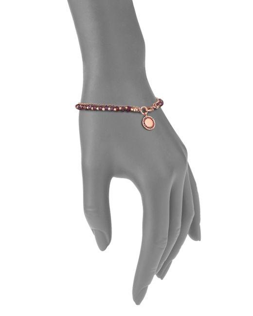 Astley Clarke   Pink Biography Garnet & Red Spinel Cosmos Beaded Friendship Bracelet   Lyst