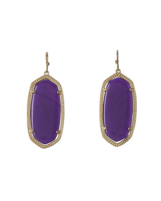 Kendra Scott | Purple Elle Earring | Lyst