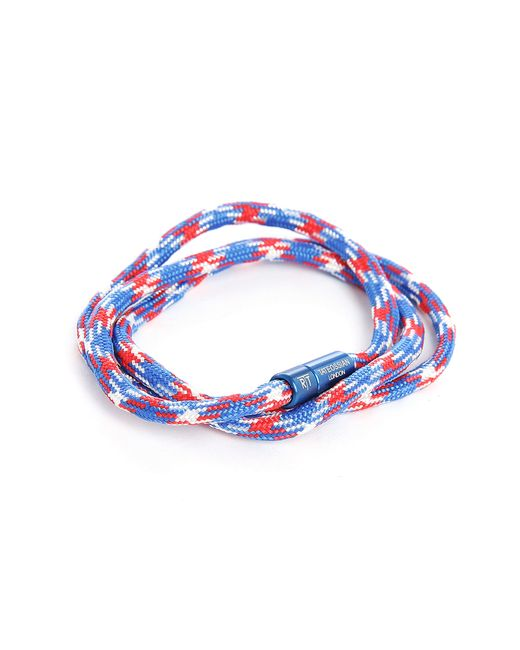 Tateossian | Blue And Red Notting Hill Double Bracelet In Aluminium Cord 59 Cm for Men | Lyst
