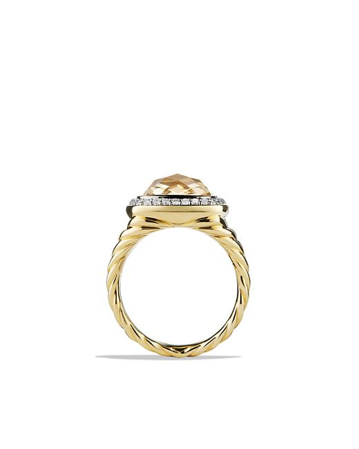 David Yurman | Metallic Albion Ring With Champagne Citrine And Diamonds In 18k Gold | Lyst