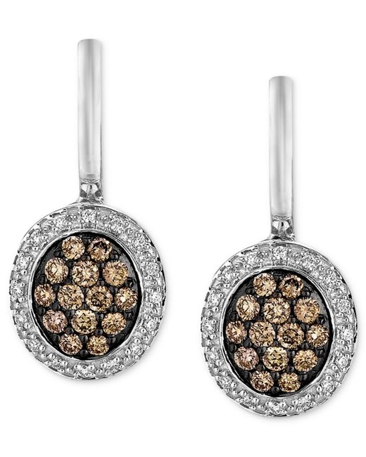 Le Vian | Brown Diamond Chocolate Diamond (5/8 Ct. T.w.) And Diamond Accent Oval Drop In 14k White Gold | Lyst