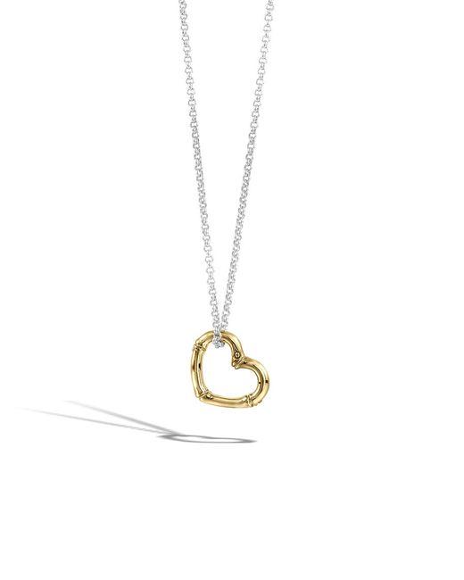 John Hardy | Metallic Heart Pendant Necklace | Lyst