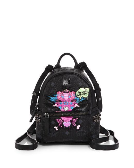 MCM | Black Stark Side Stud Medium Backpack | Lyst
