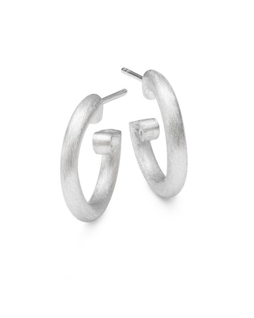 Jude Frances | Classic 18k White Gold Small Hoop Earrings/0.5"