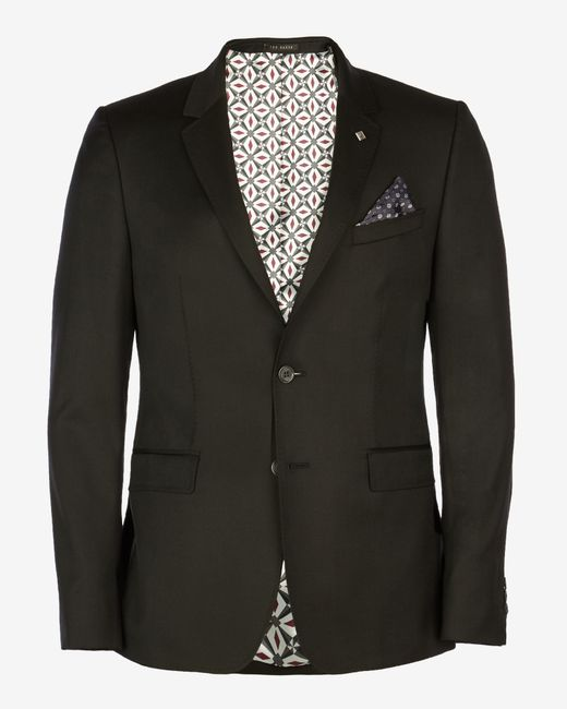 Ted Baker | Black Wool Suit Jacket for Men | Lyst