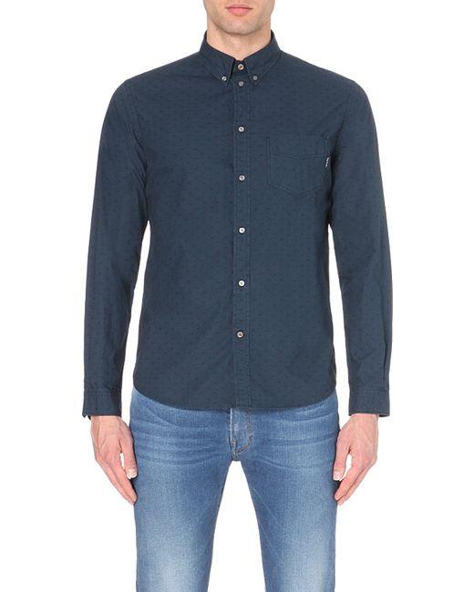 Paul Smith   Eye-print Tailored-fit Cotton Shirt, Men's, Size: L, Black/blue for Men   Lyst