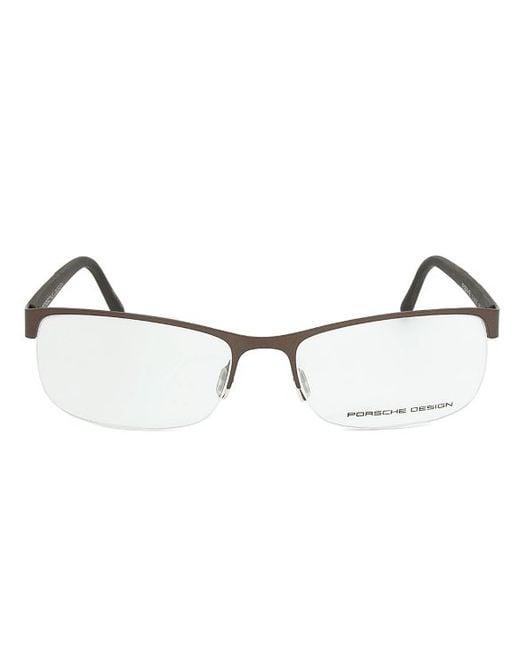 Eyeglass Frame Size 54 : Porsche design Design P8242 D Brown Eyeglasses Frame ...