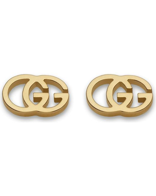 Gucci | Gg 18ct Yellow-gold Tissue Stud Earrings | Lyst
