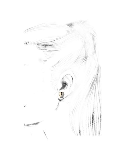 Kara Ross   Metallic Petra Contour Stud Earrings   Lyst
