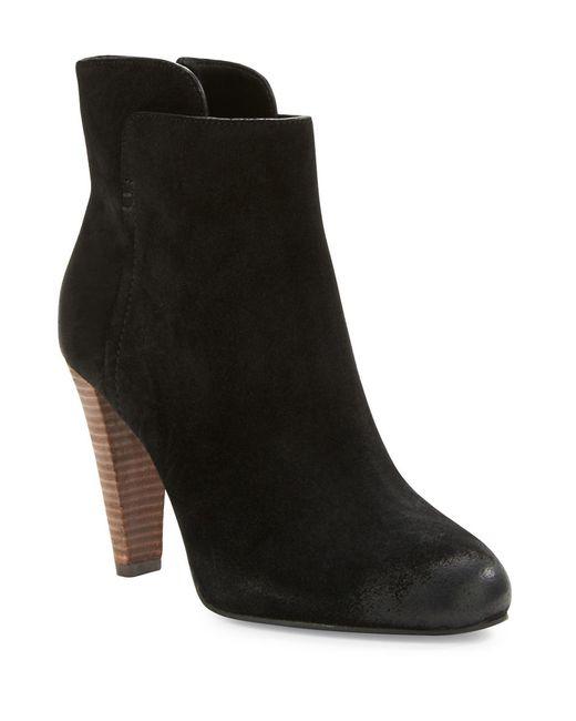 elie tahari daryn suede ankle boots in black lyst