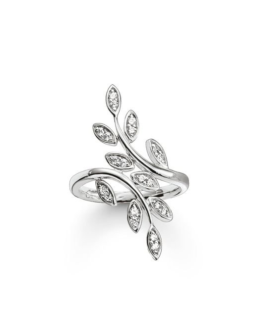 Thomas Sabo | White Fairy Twines Silver Leaf Ring | Lyst