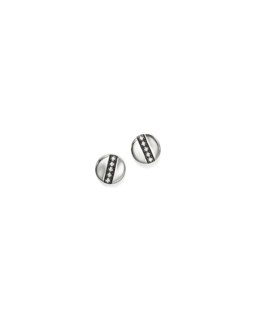 Ippolita | Metallic Sterling Silver Glamazon® Stardust Station Stud Earrings With Diamonds | Lyst