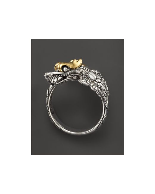 John Hardy | Metallic Sterling Silver & 18k Gold Naga Dragon Ring | Lyst