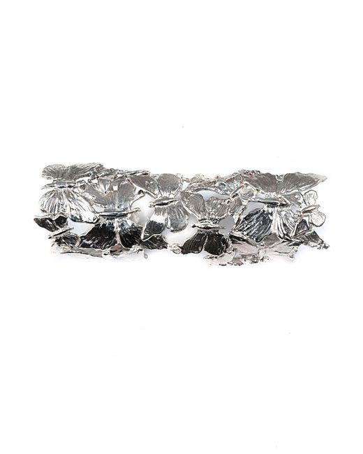 Bernard Delettrez | Metallic Articulated Butterflies Silver Ring | Lyst