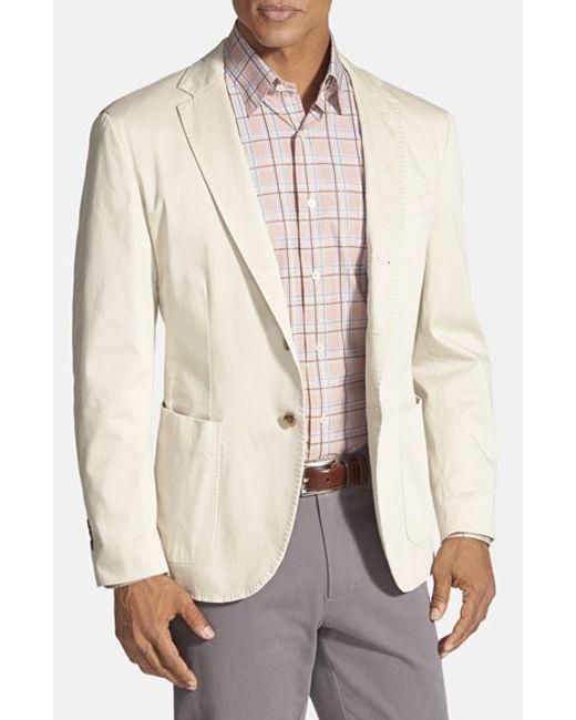 Robert Talbott | Natural 'fabiano California' Classic Fit Italian Cotton Sport Coat for Men | Lyst