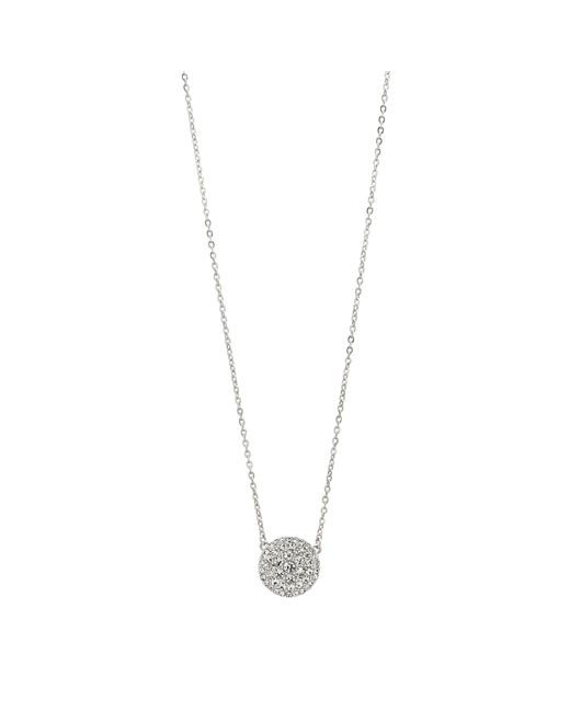 Fossil | Metallic Jf00138040 Ladies Silver Iconic Glitz Necklace | Lyst