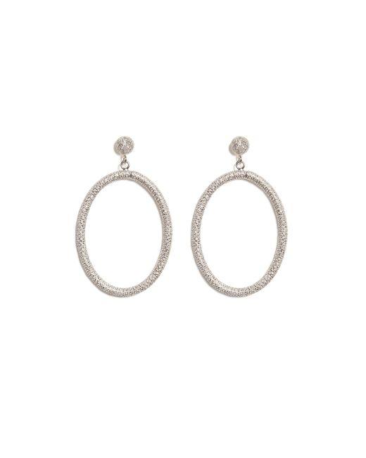 Carolina Bucci   Metallic 18k White Gold Gitane Sparkly Oval Earrings - Silver   Lyst