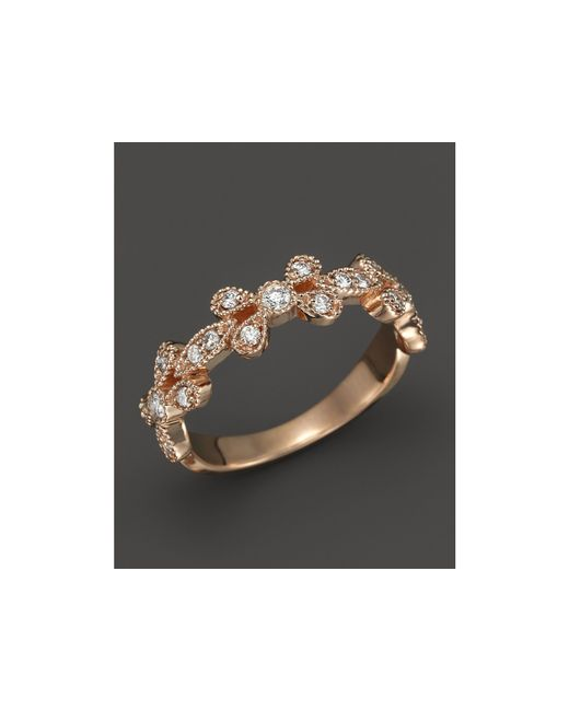 KC Designs | Pink Diamond Stackable Band In 14k Rose Gold, .30 Ct. T.w. | Lyst