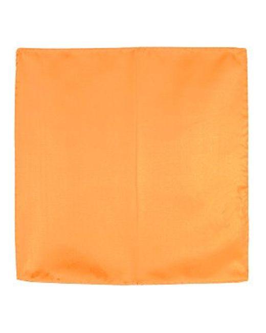 FORZIERI   Orange Silk Pocket Square   Lyst