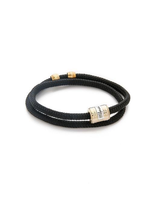 Miansai | Black Casing Rope Wrap Bracelet for Men | Lyst