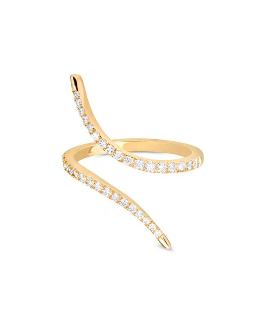 Carbon & Hyde | Metallic Diamond Slither Ring | Lyst