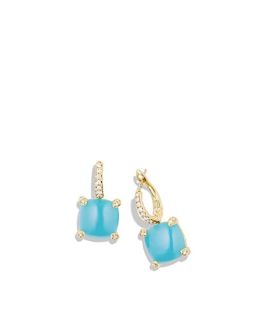 David Yurman Chatelaine Drop Earrings With Turquoise And